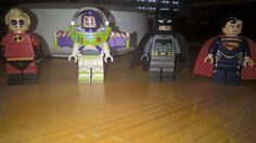 Best team ever ;) #Lego #Minifigures #Disney #Batman #Superman