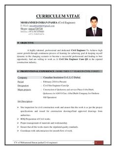 resume format for civil engineer CV of Mohammed Imran Pasha ( Civil Site Engineer Cum QS) Latest Resume Format, Resume Format Examples, Simple Resume Format, Resume Format In Word, Resume Format Download, Cv Resume Sample, Resume Pdf, Sample Resume Templates, Job Resume Samples