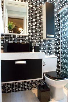 60 Banheiros Preto e Branco Decorados - Fotos Lindas