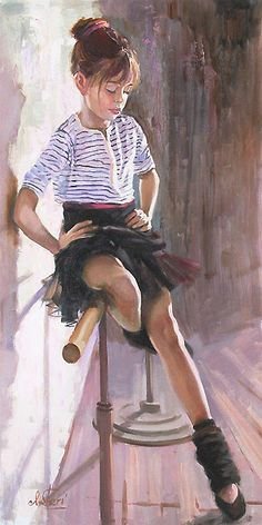 A Short Break - Original - Irene Sheri - World-Wide-Art.com #Art #Painting # children