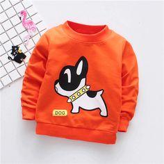 Fanfiluca Dog Pattern Unisex Cotton T-shirts Baby Boy Outfits, Kids Outfits, Baby Boy T Shirt, Dog Pattern, Kids Boys, Baby Boys, Boys Shirts, Kids Fashion, Sweatshirts
