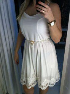 Vestido perfeito! Ultimo no tamanho G. www.boutique.iluria.com #lookdavirada #branco #Boutique Online Boutiques, White Dress, Dresses, Fashion, Outfits, Vestidos, Moda, Fashion Styles, Dress