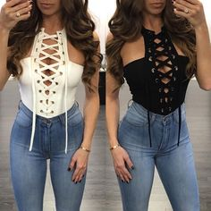 Sexy Halter Neck Criss Cross Semi-Back Romper Casual Winter Outfits, Classy Outfits, Sexy Outfits, Cool Outfits, Summer Outfits, Fashion Outfits, Goose Clothes, Pullover Shirt, Bar Outfits