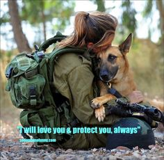 So DogGone Funny!: 14382 - Woman soldier takes an oath to her German Shepherd dog.
