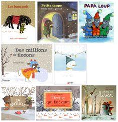 Dès le 3 novembre nous allons travailler en classe sur l'hiver, la neige et les bonhommes de neige à partir de ces différents albums: