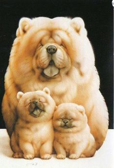 A beautiful family portrait! #Art #Pets #Portrait #Dogs #Cute