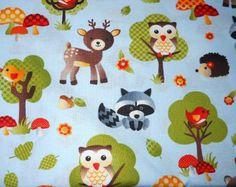 Forest Animal Crib Set | MadieBs Cute Little Forest Animals Cotton Toddler/Crib Sheet Set ...