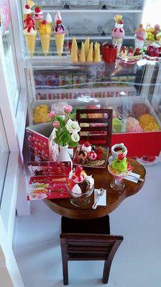 Miniature ice cream shop
