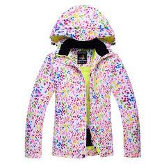 Dots Snow jackets women Ski Jacket outdoor sports Snowboard Clothes costume  Windproof Wartproof winter Warm skiing fe941f1fe