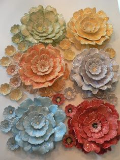 Carolina Creations Fine Art and Contemporary Craft: Ceramic Flower Pottery for our Garden Show click now for more info. Ceramic Flowers, Clay Flowers, Talavera Pottery, Ceramic Pottery, Garden Show, Garden Art, Pottery Sculpture, Sculpture Art, Ceramic Wall Art