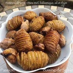 Pommes de terre rôties au balsamique, au miel, à l'ail et au thym