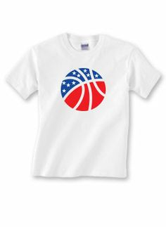 Patriotic Sports Tees #Basketball #patriotic #tees #sportskatz #RedWhiteBlue