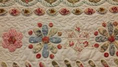 atelier prins: The Prince, workshop van Susan Smith Hexagon Quilt, Quilt Block Patterns, Applique Patterns, Applique Quilts, Quilt Blocks, Susan Smith, Shabby Chic Quilts, Vintage Quilts, Quilt Boarders