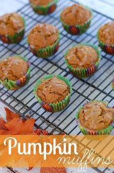 These healthy pumpkin muffins can be whipped up quickly and are perfect for playdates, brunches, and morning breakfasts on the go!