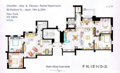 A sketch of the famous apartment in sitcom Friends, that saw emotional highs and lows throughout the years.