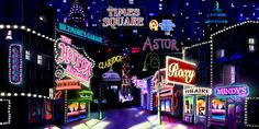 When it comes to crowd-pleasing shows, it's a safe bet to gamble on Guys and Dolls. Since its debut on Broadway in Guys and Dolls has achieve Theatre Design, Stage Design, Set Design, Backdrop Design, Booth Design, Guys And Dolls Musical, Annie Musical, Site Image, Times Square