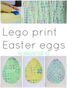 Print Easter eggs with Lego Duplo OMG cute!!!!  #eastercraft