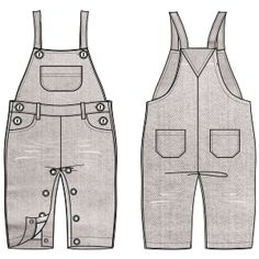 Dungarees 623 : One-Piece : BABIES : Fashion Sewing Patterns for Professionals Dress Sewing Patterns, Clothing Patterns, Fashion Sewing, Kids Fashion, Babies Fashion, Boys Clothes Style, Clothes For Women, Large Size Clothing, Baby Dungarees