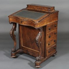 images victorian davenport | Lot No 147 A Victorian figured walnut Davenport desk of serpentine ...
