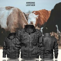 Modern styles for the rugged man. Shop now at Harding Leather! Rugged Men, Leather Jackets, Winter Jackets, Modern, Style, Men, Winter Coats, Swag, Trendy Tree