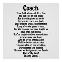 Shop Coach Thank You Poster created by nikiclix. Football Coach Quotes, Thank You Poster, Custom Posters, Custom Framing, Favorite Quotes, Coloring Books, Reflection, Print Design, Let It Be
