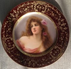 Royal Vienna Portrait Plate C 1880 Signed Wagner | eBay