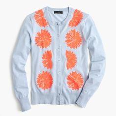 Shop Now - >  https://api.shopstyle.com/action/apiVisitRetailer?id=627065889&pid=uid6996-25233114-59 Embellished cotton Jackie cardigan sweater  ...