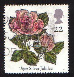 Great Britain Postage stamp ; Rose