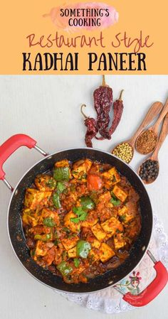 How to make Dhaba Style Kadhai Paneer Easy Paneer Recipes, Veg Recipes, Indian Food Recipes, Paneer Curry Recipes, Cheese Recipes, Easy Chinese Recipes, Easy Chicken Dinner Recipes, Vegetarian Recipes Dinner, Kitchens