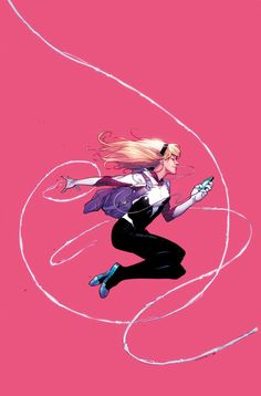 Spider-Gwen #1 variant cover by Jerome Opena, colours by Jason Keith *