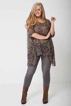 Lagenlook Plus Size Sheer Kimono Top Tunic Cover Up Chiffon Oversized UK 16 - 28 Hemline, Kimono Top, Cover Up, Chiffon, Tunic Tops, Plus Size, Clothes For Women, My Style, Stylish