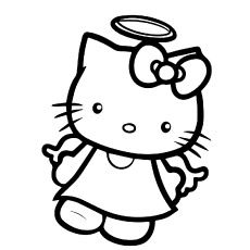 Printable Hello Kitty Coloring Pages Kids - Cartoon Coloring pages . Minion Coloring Pages, Hello Kitty Colouring Pages, Printable Flower Coloring Pages, Angel Coloring Pages, Mickey Mouse Coloring Pages, Disney Coloring Pages, Coloring Pages For Kids, Coloring Books, Hello Kitty Drawing