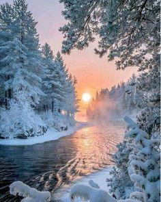 5D Diamond Painting Snow Sunset - 20X25 cm