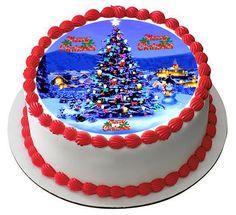 Christmas 7 Edible Birthday Cake Topper