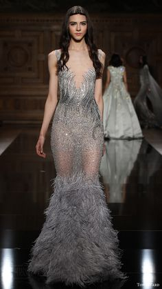tony ward couture fall 2016 sleeveless mermaid silver gown (20) mv -- Tony Ward Fall/Winter 2016-2017 Couture Collection