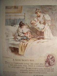 1898 IVORY SOAP AD  Vintage Soap Advertisement Bathroom Decor Victorian Dresses Gowns Vintage Fashions Ready To Frame, via Etsy.