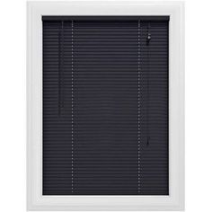 Bali Essentials 1 inch Premium Vinyl Blind, Corded, Available in Multiple Colors and Sizes, Black