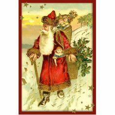 vintage christmas items | Antique Vintage Father Christmas Santa Ornament Photo Sculpture ...