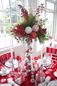 Mesa de jantar em clima de natal!