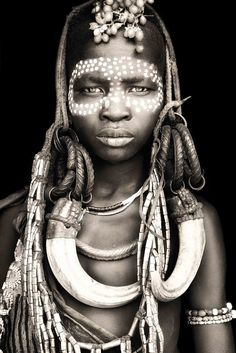 African Portraits by Mario Gerth mursi from mago / ethiopia