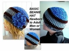 How to Crochet a Basic Beanie, for babies, children, teens, men, women! This video tutorial will fill the need for making any hats for anyone! Make them one ...