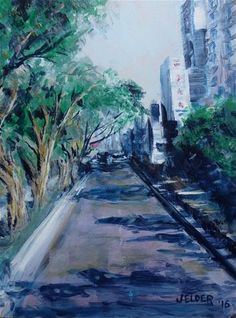 "Daily Paintworks - ""A Quiet Morning"" - Original Fine Art for Sale - © Judith Elder"