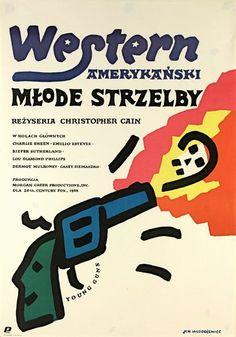 Young Guns Mlode strzelby Mlodozeniec Jan Polish Poster