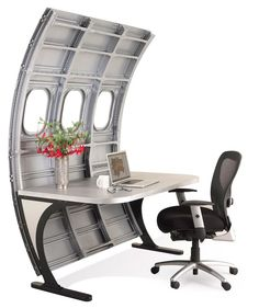 Old Aircraft Parts Turned Into Luxurious Furniture If You Live To Fly  Or  Just Want To Be Able To Eject From Your Office Quickly  Then Motoart Has  Furniture ...