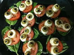 """fun ideas for """"grown-up"""" Halloween dishes"""