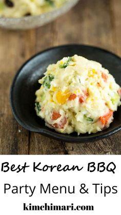 Korean Potato Salad, Korean Potatoes, American Potato Salad, Salad With Sweet Potato, Asian Recipes, Beef Recipes, Cooking Recipes, Ethnic Recipes, Oriental Recipes