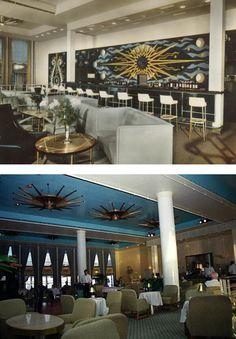 55 best midcentury ocean liner interiors images recliner boating rh pinterest com