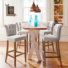 Elevate your home decor with comfortable and durable bar stools from Frontgate. Find high-quality, stylish kitchen counter stools and bar chairs online. Kitchen Island Decor, Kitchen Stools, Table Stools, Bar Kitchen, Kitchen Ideas, High Table Kitchen, Kitchen Island Stools With Backs, Summer Kitchen, Island Chairs