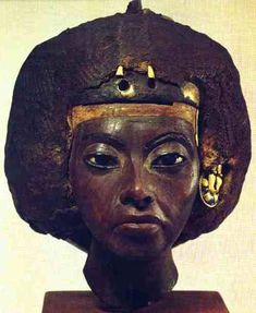 This is a bust of King Tut's grandmother, Queen Tiye. Now, please go on about how Tut was not black at all, or how no Ancient Egyptians were black, and how Africans have achieved nothing throughout history. Please, go on.