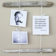 DIY Driftwood Photo Hanger...and I have TONS of driftwood from my last trip to Nor-Cal!